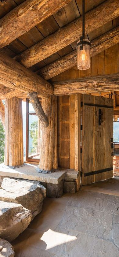 428 best images about rustic living homes rooms decor for Montana rustic accents