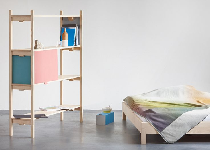 Bookbinder Shelf and bedroom furniture by Florian Hauswirth   design
