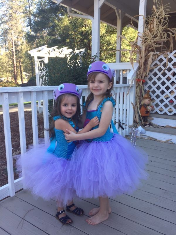 """Boov costume tutu dress Halloween party home movie """"OH inspired"""" sizes 2T-Age 6"""
