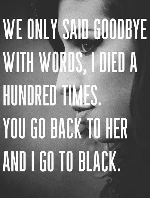 amy winehouse back to black (lyrics, quotes)