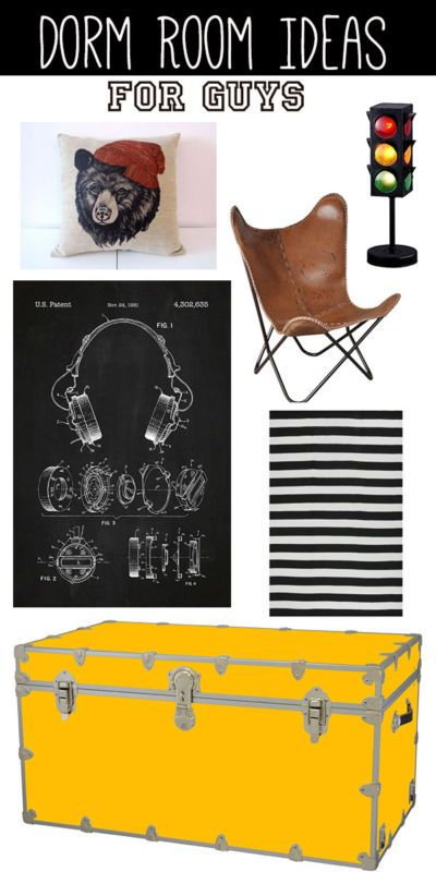 Guys need and want just as much personality in their dorm rooms as girls! Now that it's time to start shopping for the dorm room must haves, here are some fun and practical ideas that allow him to personalize...
