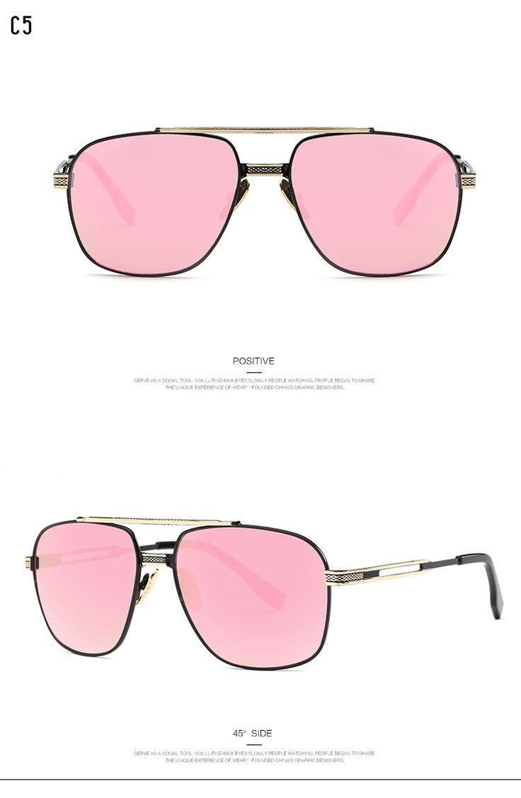 2017 Top Luxury Brand Design Ladies Sunglasses Brad Pitt Era Square Men Women Couple Flat Shades Fashion Sun Glasses UV400 Oh Yeah Visit us