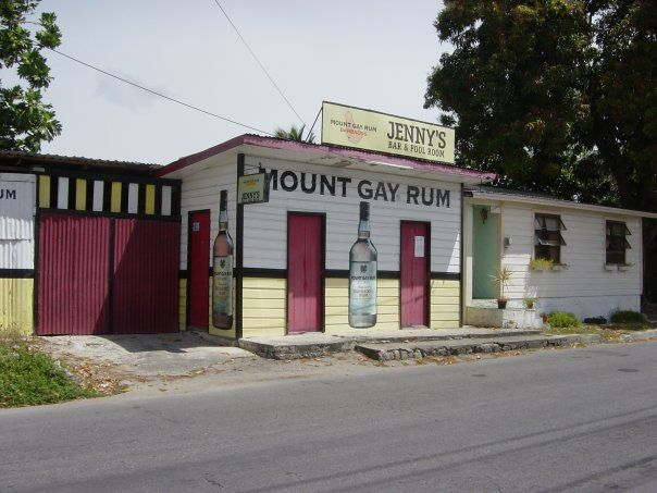 """'There are two things you'll find in every village in Barbados and that's a church and a rum shop. Both have a lot of spirit."""" Pun intended…  you will notice in Barbados it seems to be a small church and a couple of brightly coloured rum shops. There are literally thousands of rum shops in Barbados.  http://bajanrumshop.com/?p=2190  #Barbados #RumShops #BajanRumShops www.bajanrumshop.com"""