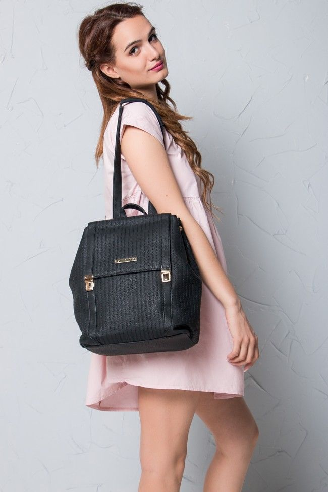 Black Saddle Backpack