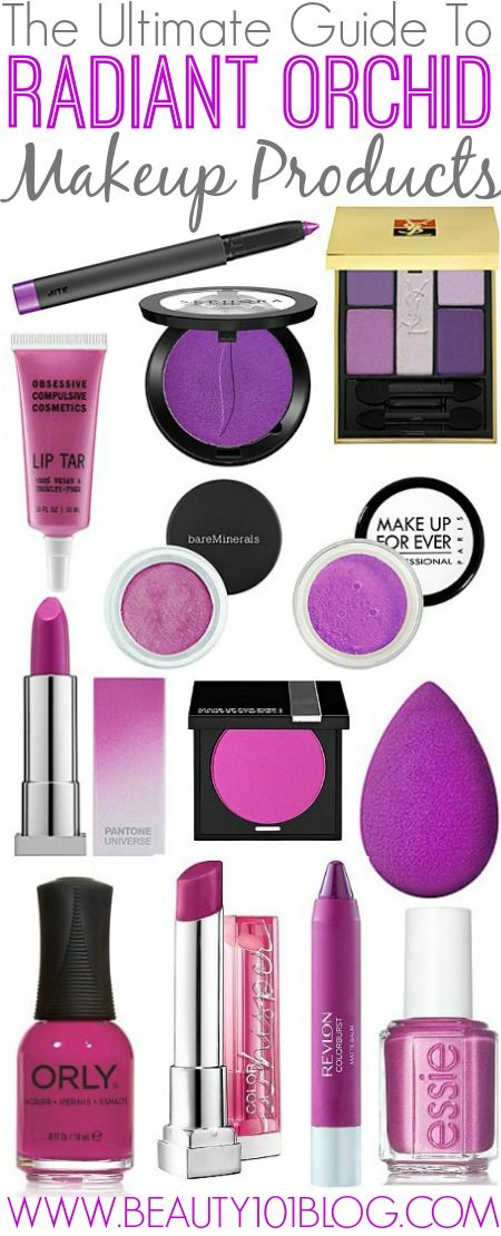 """The Best Radiant Orchid Makeup Products - Beauty 101 Blog  Essie Nail Polish in """"The Girls Are Out"""""""