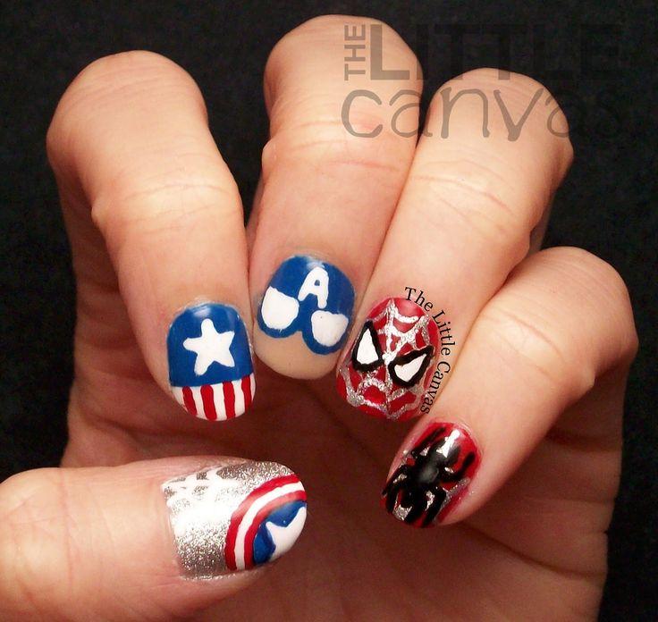marvel nail art  Fingertip Fashion  Fandom  Pinterest