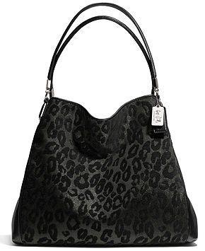COACH MADISON SMALL PHOEBE SHOULDER BAG IN CHENILLE OCELOT - COACH - Handbags  Accessories - Macys