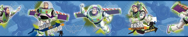 Toy Story 3 - Buzz to the Rescue Wall Border - InteriorDecorating
