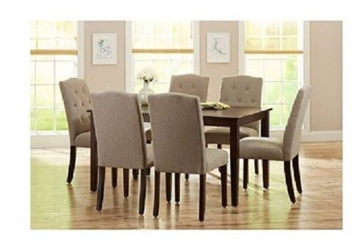 Mocha 7 Pc Dining Set Beige Indoor Furniture Sets Table Chairs Living Room Sale