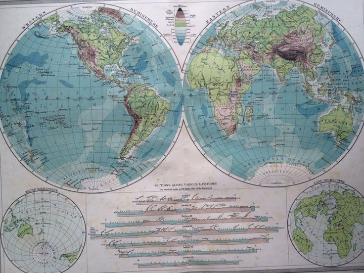 Mejores 74 imgenes de world maps en pinterest mapas antiguos 1903 the world in hemispheres large original antique map 155 x 205 inches harmsworth map gumiabroncs Image collections
