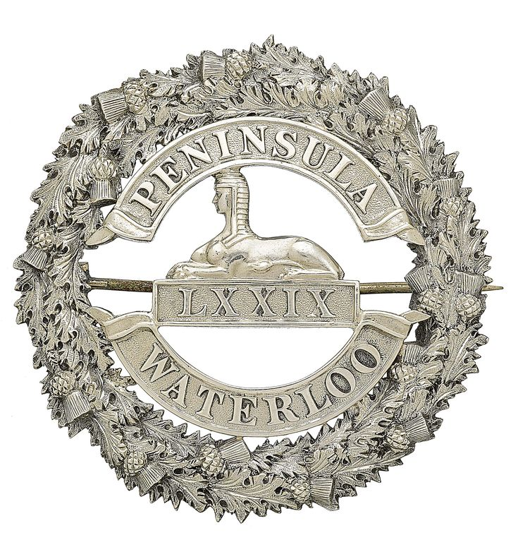 British; 79th (Queen's Own Cameron Highlanders), Officer's  silver plaid brooch circa 1840-81