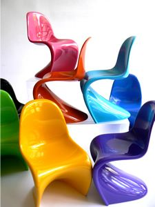 Panton's Plastic Chair - in miniature form! Who knew there was a site called MiniatureChairs.com?