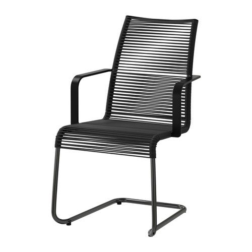 VÄSMAN Chair with armrests IKEA The materials in this outdoor furniture require no maintenance. Easy to keep clean – just wipe with a damp cloth.