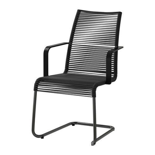 50 €- VÄSMAN Chaise avec accoudoirs, extérieur IKEA Les matériaux de ce meuble d'extérieur ne nécessitent aucun entretien.