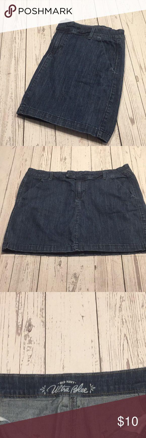 Blue Jean Mini Skirt Blue Jean Skirt~   Latch & Round Buttons~  99%Cotton & 1%Spandex Old Navy Skirts Mini