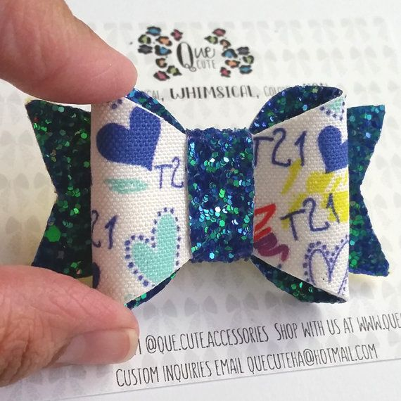 Down Syndrome Ribbon First Birthday Outfits by QueCuteAccessories