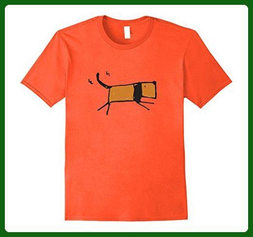 Mens Mosher Pets Funky Dog Sketch For Dog Lovers Large Orange - Animal shirts (*Amazon Partner-Link)