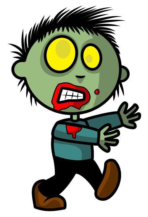 Картинка мультяшного зомби