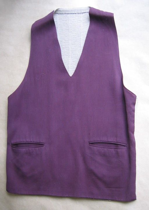 103.02 kr. Vintage Vest for Men Fabric Front Knit Back by styleagency on Etsy