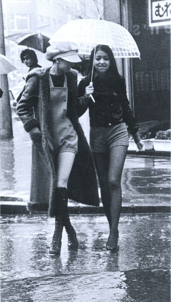 """The year of """"Hot pants"""" fashion in Japan - 1971 Source twitter oldpicture1900"""
