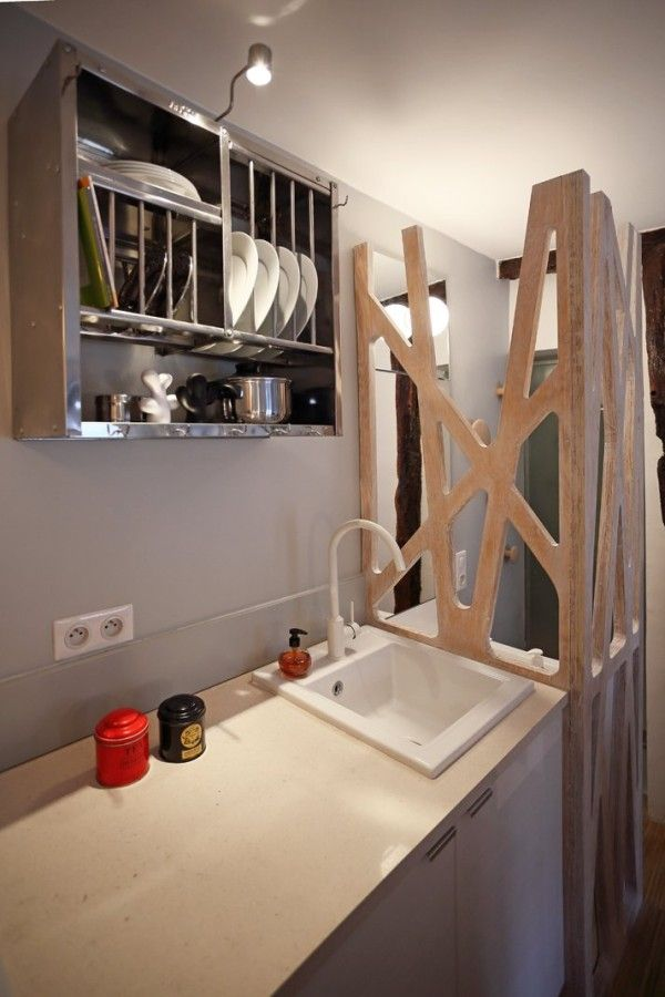 129 sf micro apartment studio in paris 008 600x900   Woman Goes Tiny in a 129 Sq. Ft. Micro Apartment