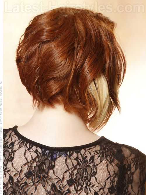 Copper Delight Smooth Style with Blonde Highlights - Back View