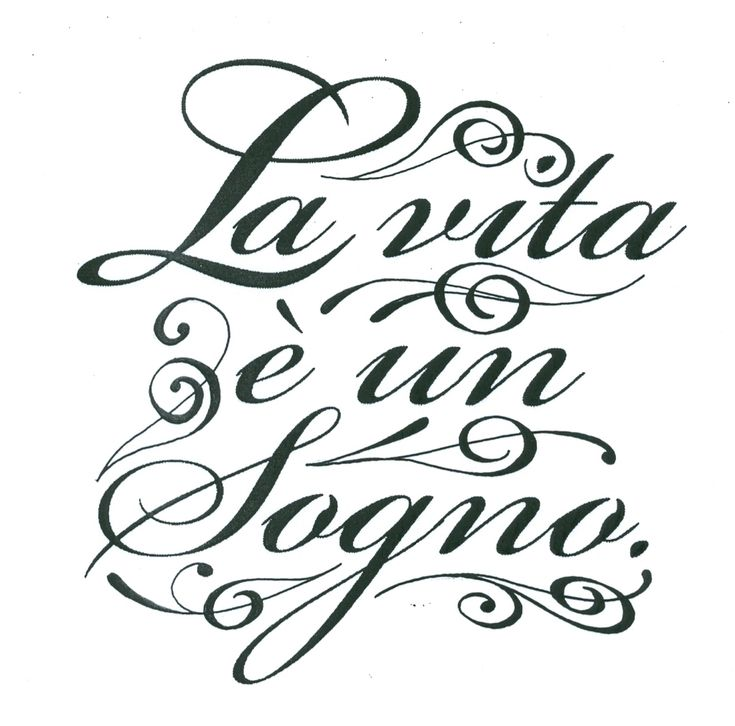 """blogssom — Cool Italian Quotes """" Life is but a dream"""""""