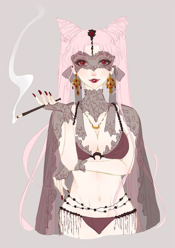 Chinese artist SoudWrong has created a series of illustrations featuring Sailor Moon characters as lingerie models black lady - free lingerie, lingerie gifts, lingerie nightwear *ad