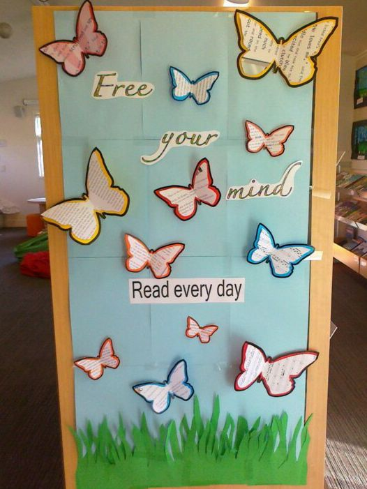 A simple poster like this could be used to express spring season, but it also shows a little creativity and a relaxing reminder of encouragement for students.
