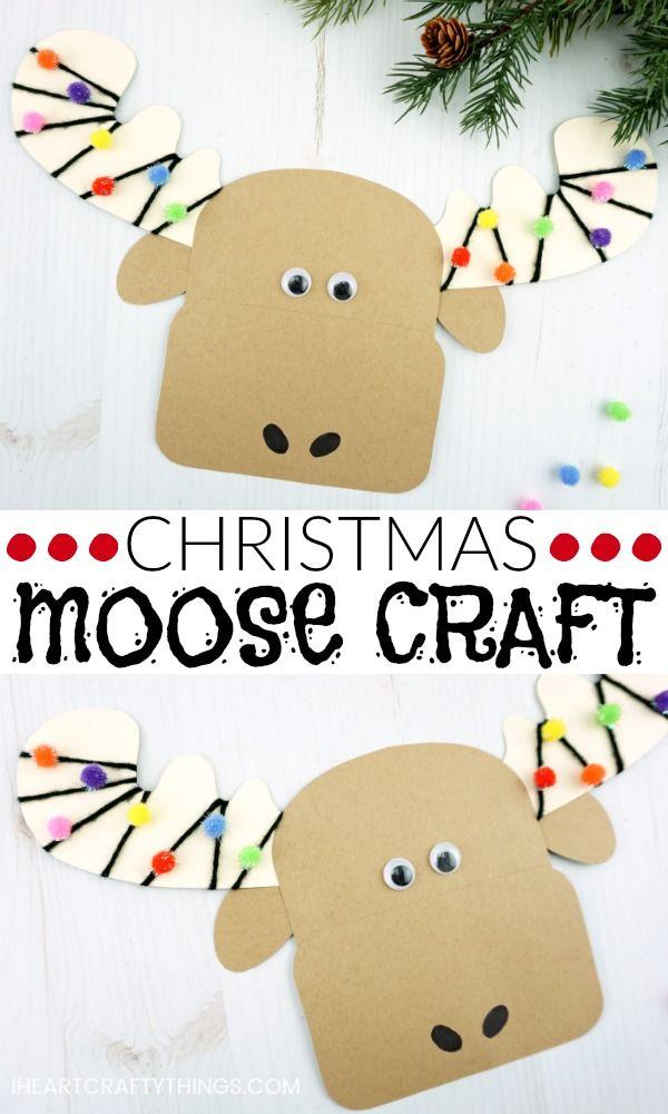 Moose Craft Preschool : moose, craft, preschool, Cutest, Christmas, Moose, Craft, Crafts,, Crafts, Kids,, Holiday