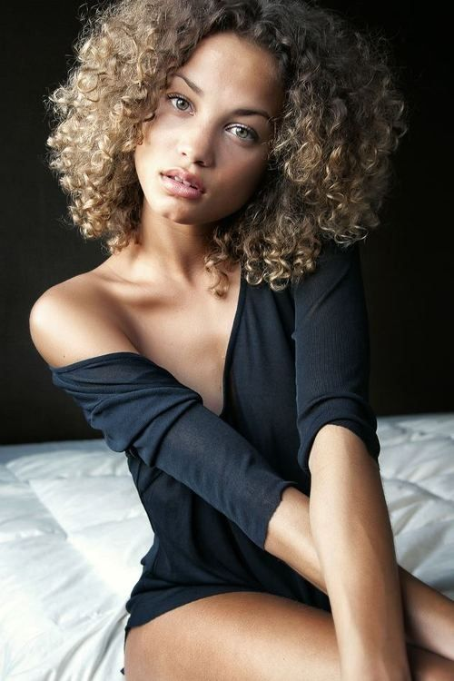 curly blonde biracial