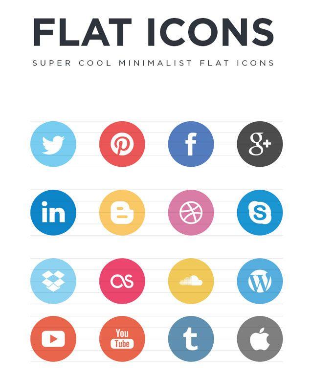 30  Free Flat UI Icon Sets