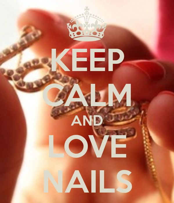 KEEP CALM AND LOVE NAILS - by me JMK