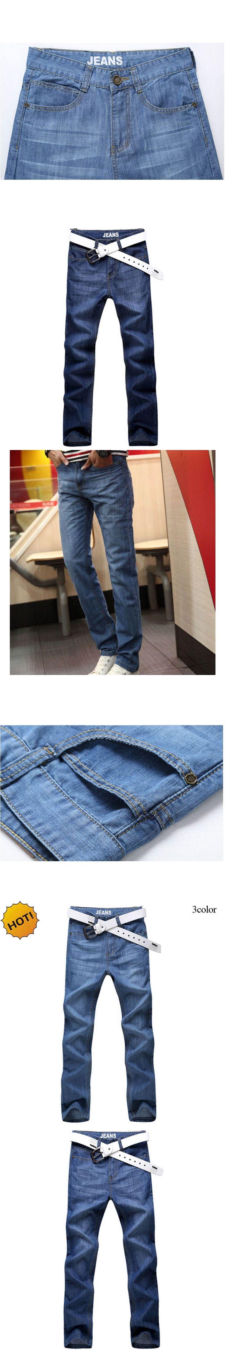 New Arrive 2017 Summer Ultra-thin High Quality Mens Denim Overalls soft cotton Men Slim Fit Biker Jeans Homme plus size 28-40