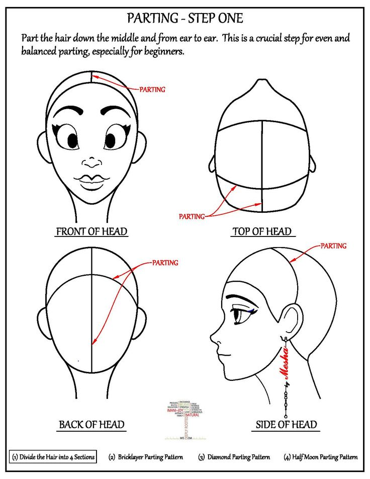 Parting The Hair Bricklayer Pattern Box Braids