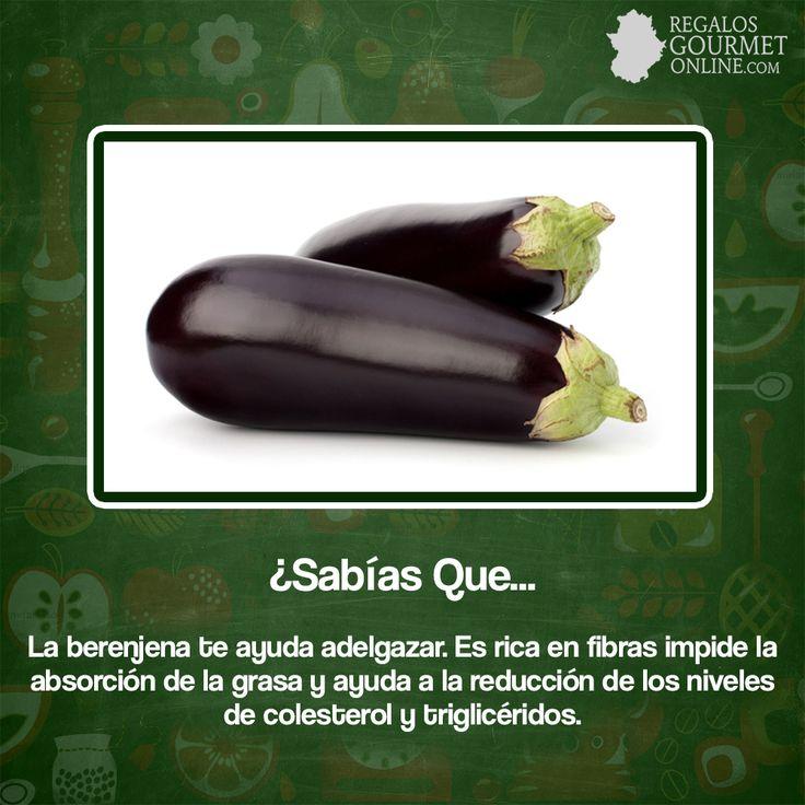 ¿#SabíasQue La berenjena te ayuda adelgazar?#Curiosidades#Gastronomía