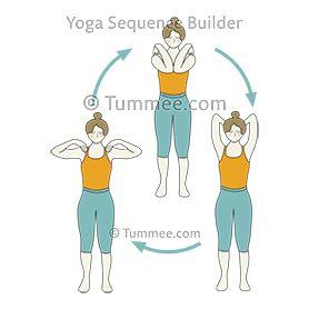 standing shoulder rolls bent elbows yoga  yoga sequences