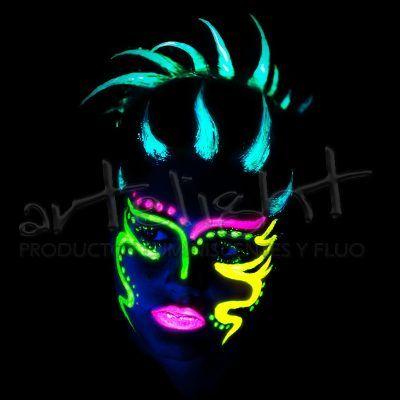 Maquillaje Corporal Fluo- Fluorescente - Fluor - 12 Unidades - $ 199,00 en MercadoLibre