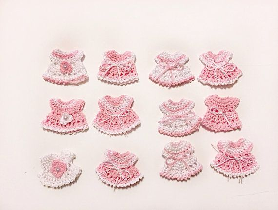 Mini dresses Guest Gift  Baby Shower Favors  Baby by MAVECROCHET