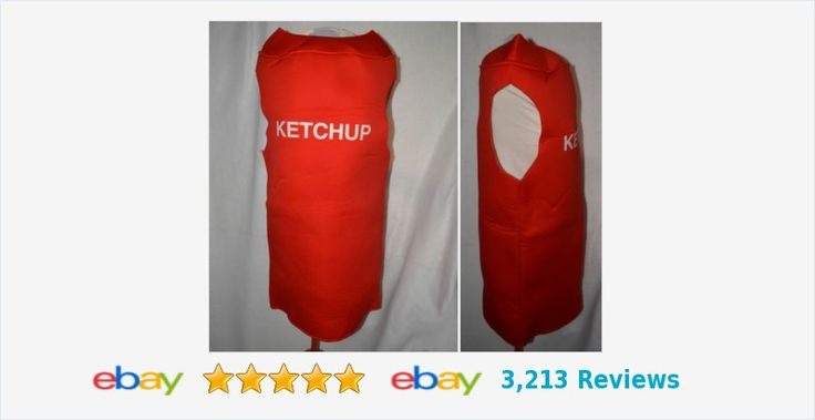 S-M KETCHUP costume #Condiment #Ketchup #Costume