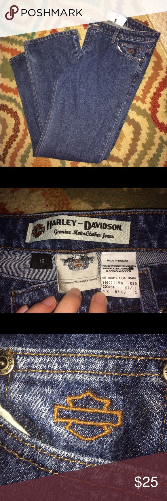 Harley-Davidson Jeans Authentic Harvey-Davidson jeans size 12. Never worn. Harley-Davidson Jeans