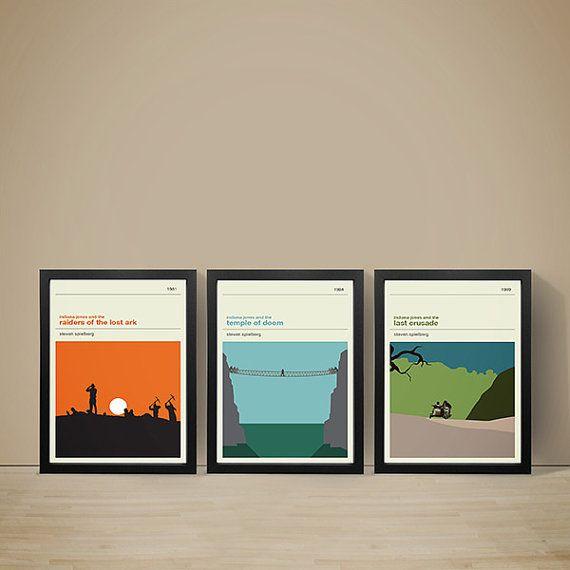 Indiana Jones Movie Posters - Set of Prints, Movie Prints, Film Poster, Indiana…