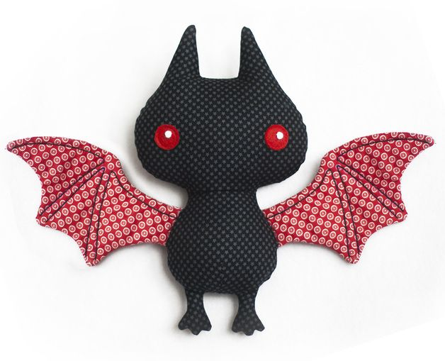 scary gifts at DaWanda Other – Stuffed bat sewing pattern pdf – a unique product by Mariska via en.dawanda.com