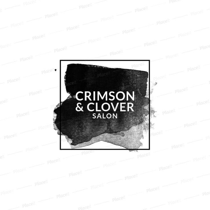 Pin By Khyan On Crimson Clover Salon Logo Maker Logo Design Mockup Generator