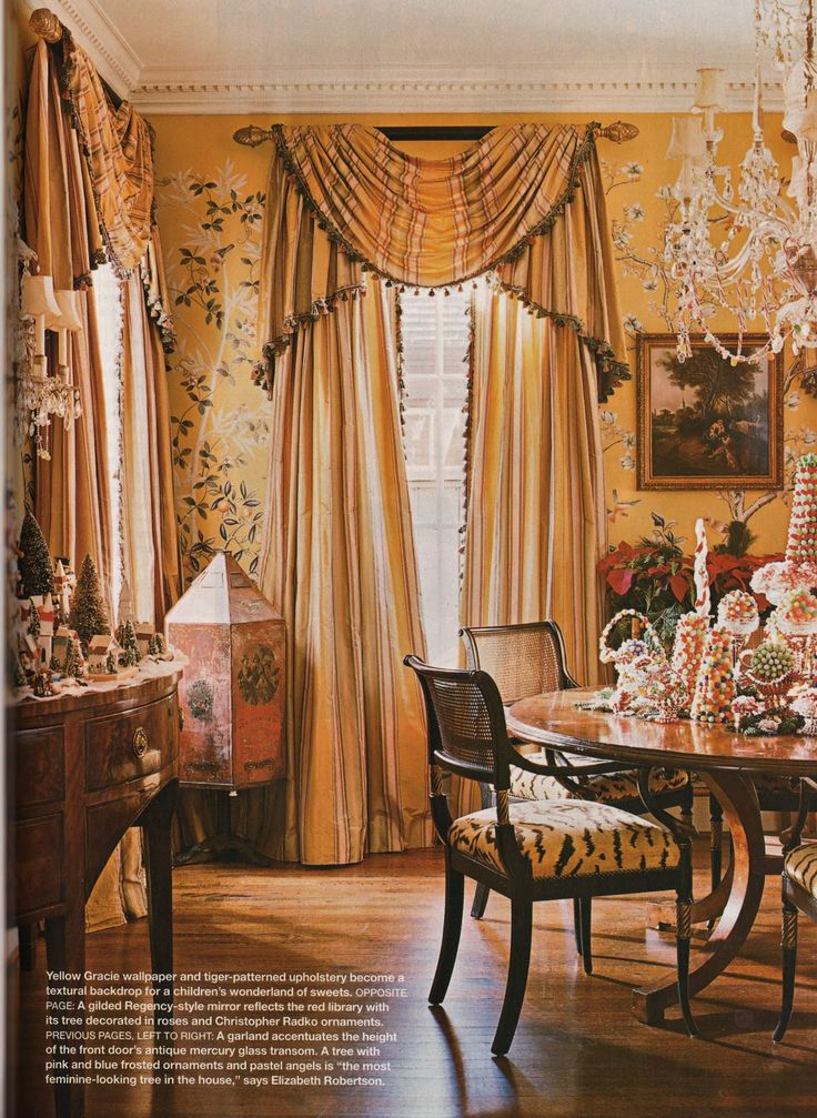 83 best formal dining rooms images on pinterest formal dining rooms chandeliers and classic - Highland park wallpaper ...