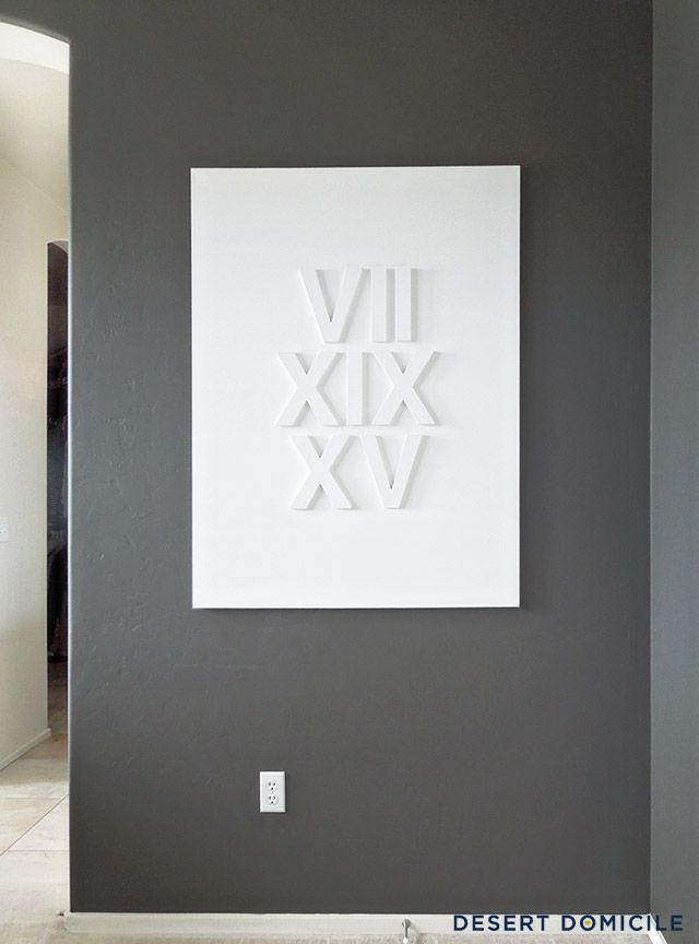 DIY Roman Numeral Wedding Date Art Diy Living RoomLiving Room Wall