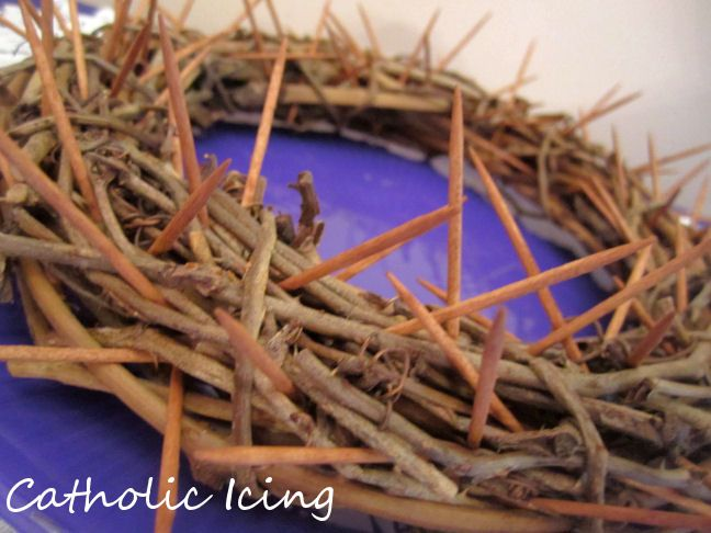 Crown of thorns for Lent- kids pull a toothpick each time they do a good deed or make a sacrifice. Transforms into a beautiful nest on Easter!