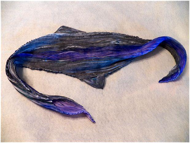 shibori silk painted scarf