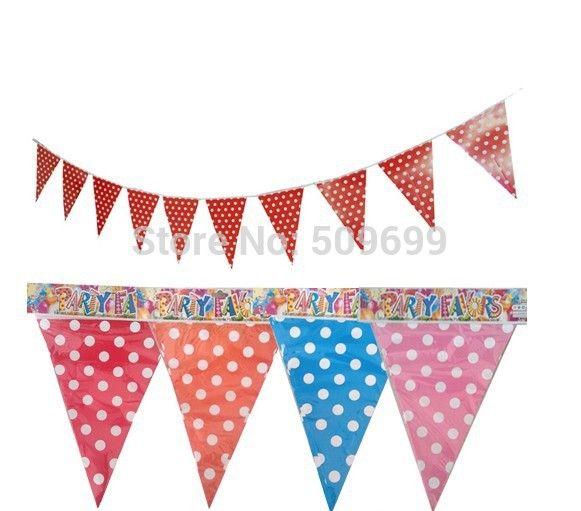 Новое прибытие детский день рождения украшения флаги/бумаги Горошек вымпел для Ребенка Партия Поставки