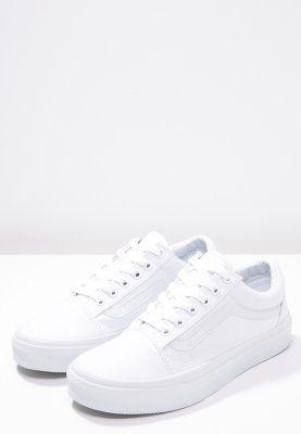 Lage sneakers Vans OLD SKOOL - Sneakers laag - true white wit: 54,95 € Bij Zalando (op 1/01/16). Gratis verzending & retournering, geen minimum bestelwaarde en 100 dagen retourrecht!